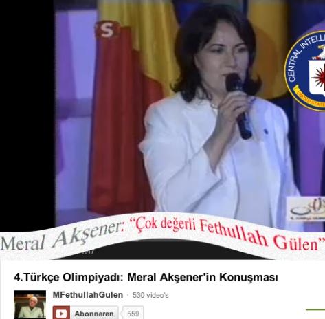 Meral Aksener Fethullah Gülen elele CİA'nin gölgesinde Türkçe'yi kurtarma yolundalar.